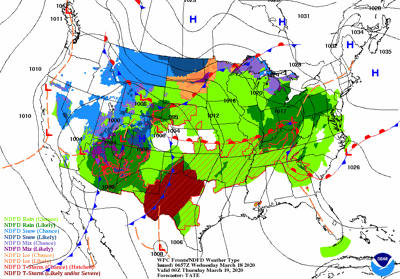 Wednesday's weather map
