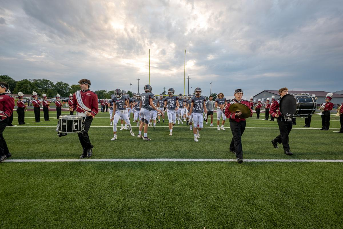 Marching onto the field