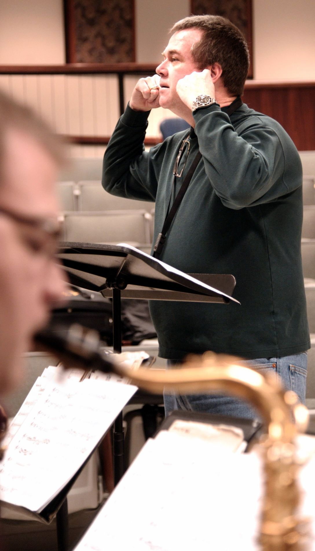 Jazz Professor Chip McNeill throws himself into his work