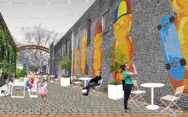Rendering from the Downtown Master Plan