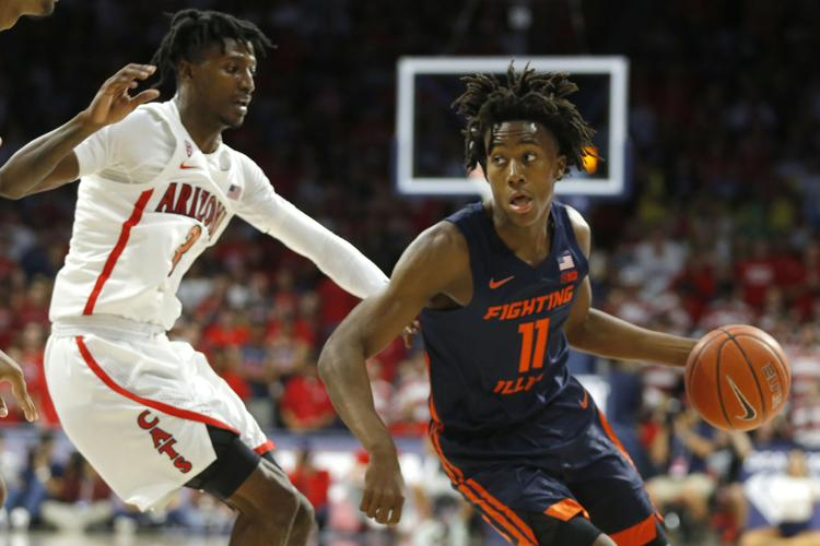 Illinois' sophomore guard, Ayo Dosunmu is a first round prospect for the 2020 NBA Draft.  (Photo: Rick Scuteri/AP via News-Gazette.)