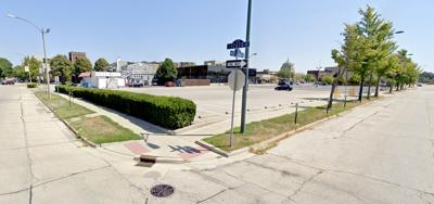 Champaign parking lot closure State and Clark