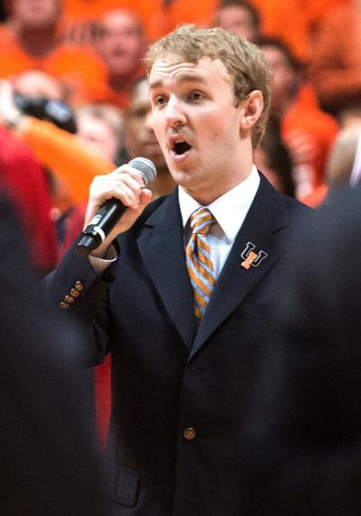 UI volleyball Final Four singer Borup.jpg