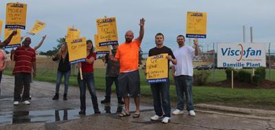 Danville Viscofan workers go on strike over wage freeze, short-notice overtime