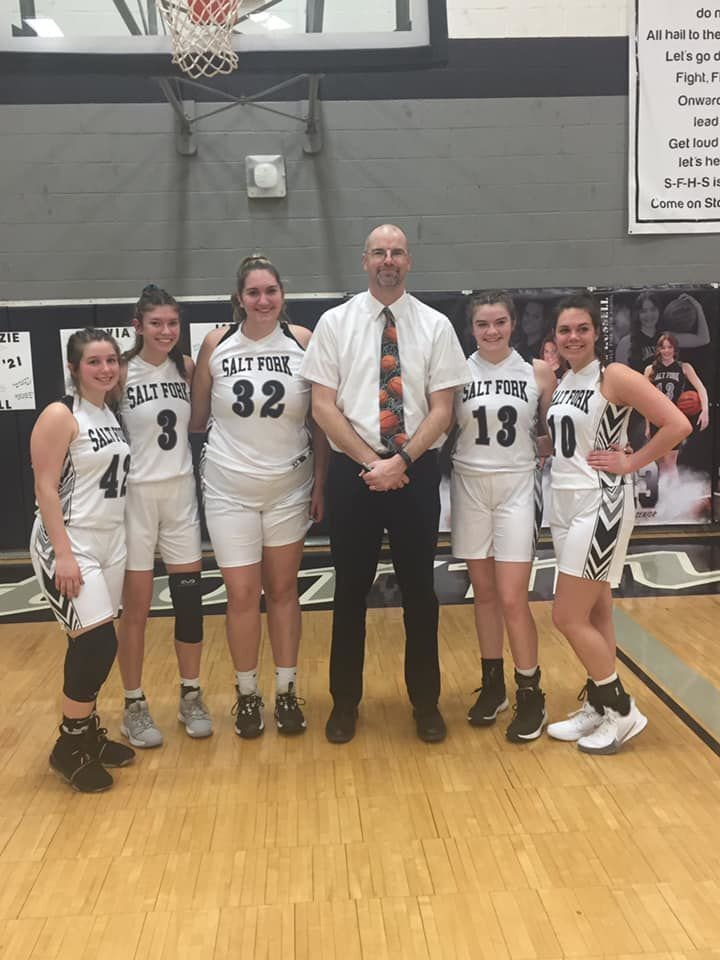 Brian Russell with seniors