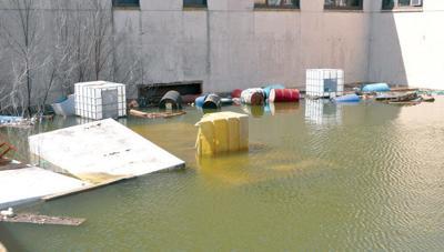Rantoul mayor orders pond at former Chanute hospital drained