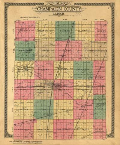 IO Champaign County Plat Map