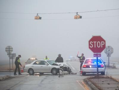 Updated: 4 minor injuries in school bus-car crash