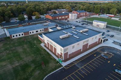 Monticello High School addition aerial