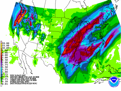 Heavy rainfall for parts of the eastern & southern Corn Belt