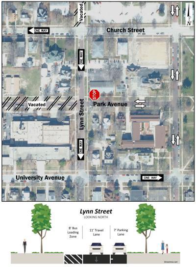 Champaign council Lynn Street new map