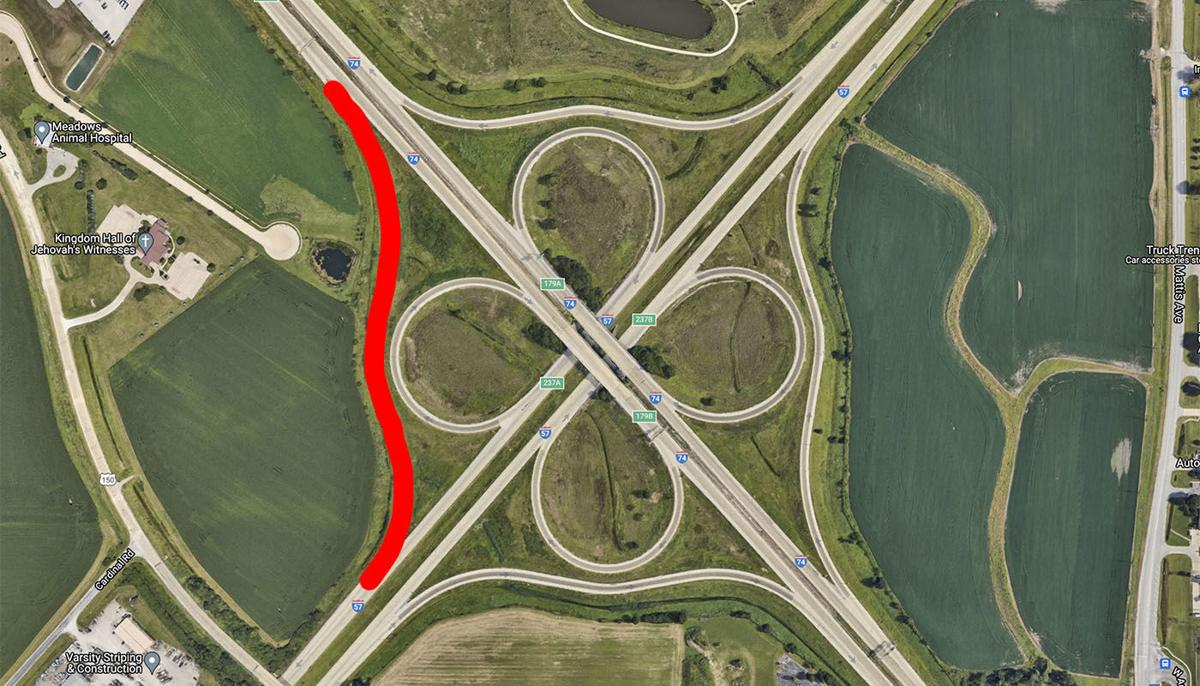 IDOT I-57-74 interchange ramp closure
