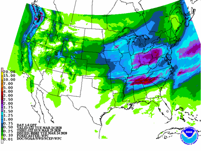 5-day precipitation forecast