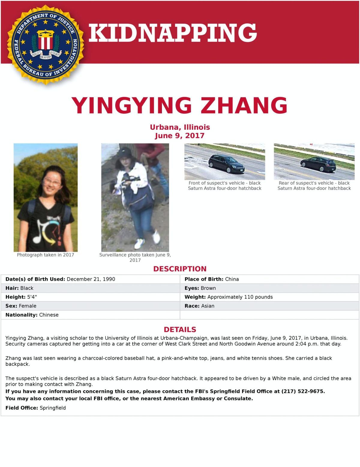 The search for Yingying Zhang: Day 20