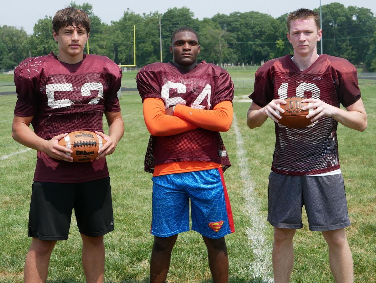 Danville football players