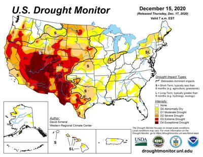 U.S. Drought Monitor chart