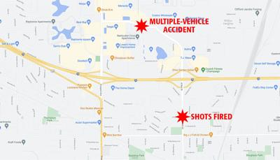 Champaign shooting map