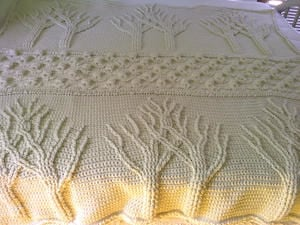 Making a crocheted Tree of Life afghan for a wedding gift | Living