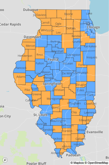 Friday county map