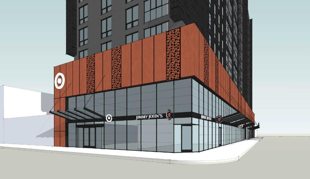 Renderings hint at Target being part of Hub on Campus high-rise