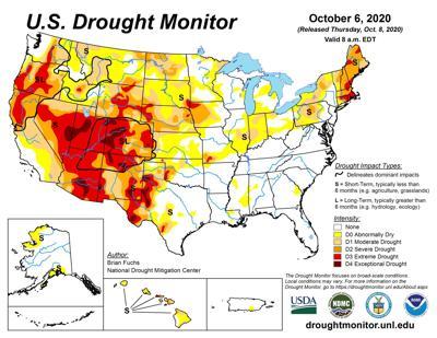 The latest U.S. Drought Monitor
