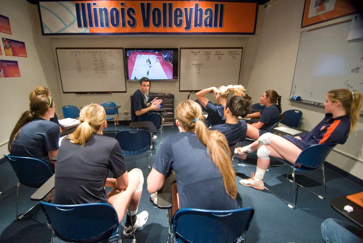 Volleyball stereotype: Women play, men coach