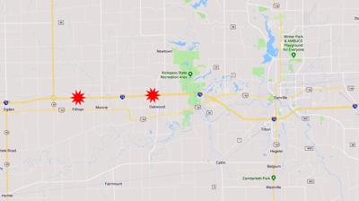 I-74 accidents Oakwood