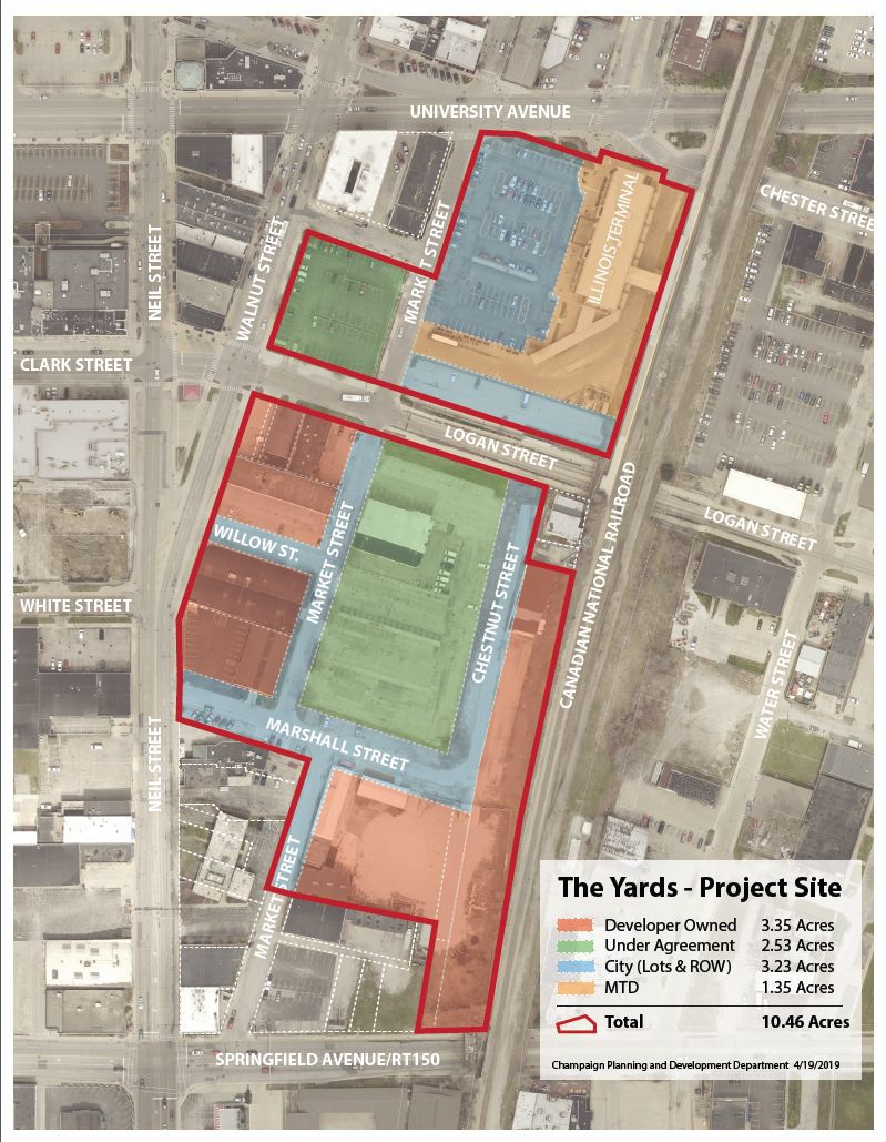 Champaign to consider $35 million in incentives for The Yards
