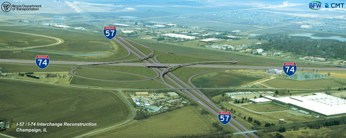 IDOT I-57-74 interchange rendering