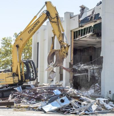 Former Chase Bank demolition