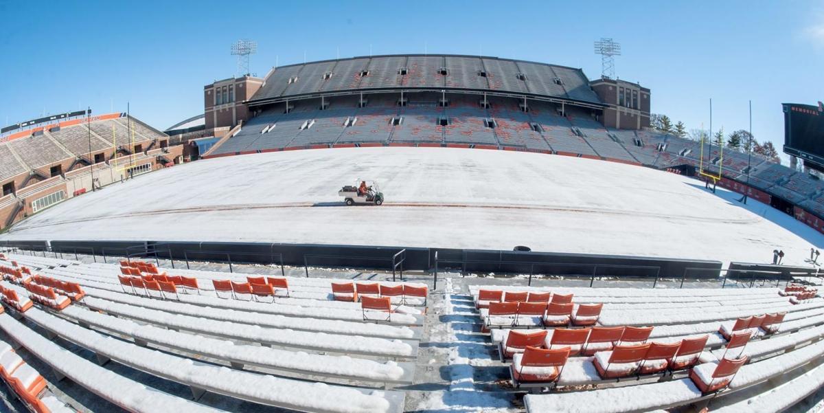Empty Memorial Stadium