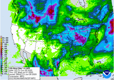 5-day rainfall forecast