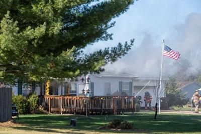 Fire damages Mahomet home