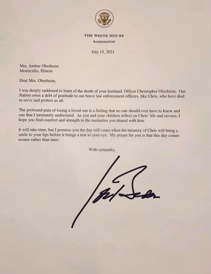Biden letter