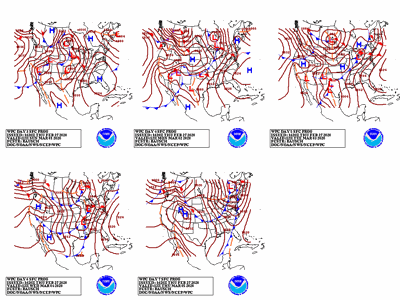 5-day weather outlook chart