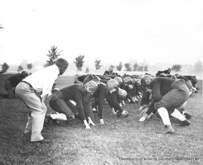 Bob Zuppke with 1929 Illini football