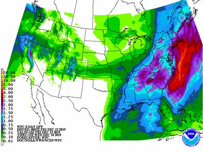 5-day precipitation forecast
