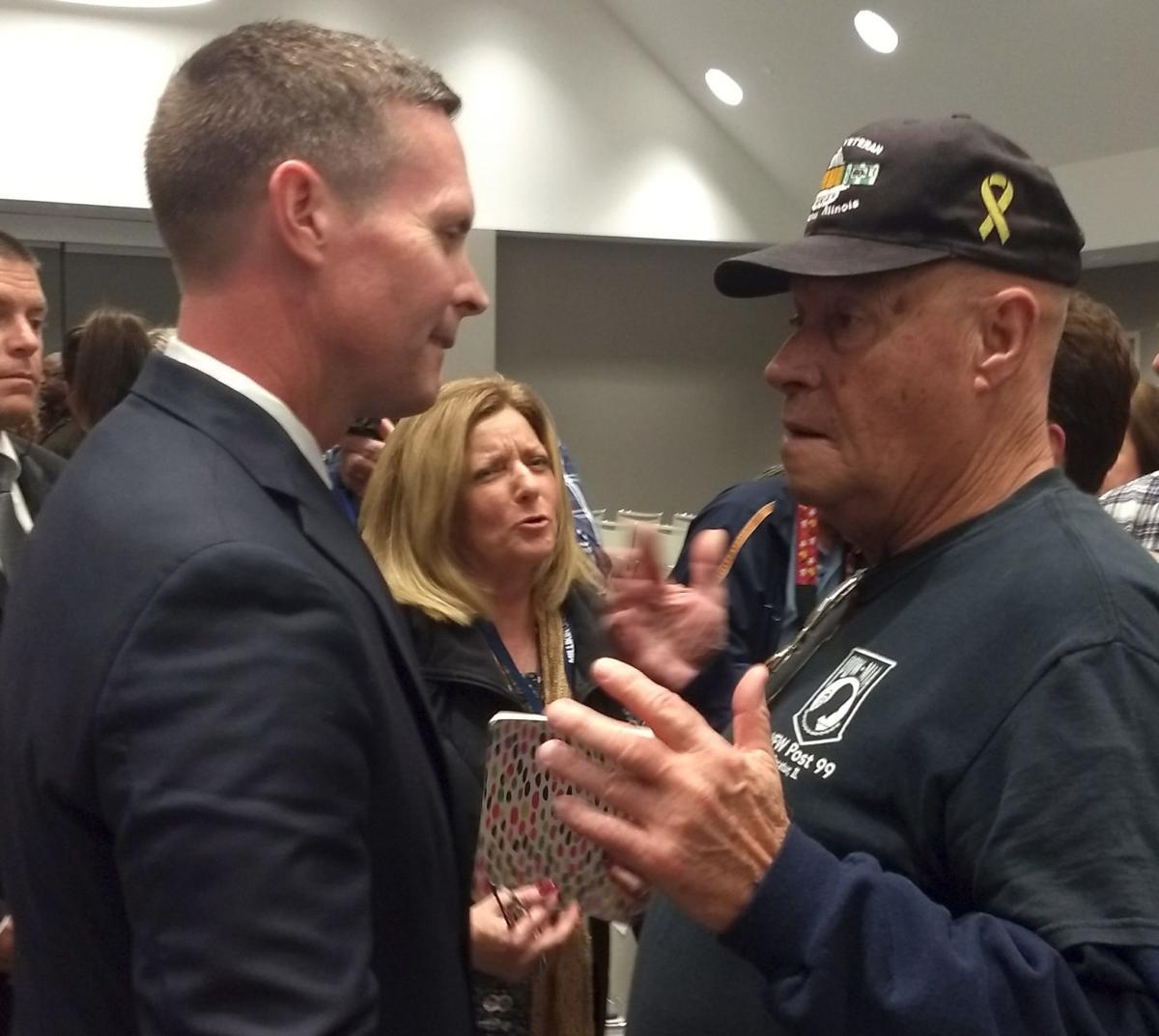 Davis, Londrigan spar on agriculture, trade at Decatur debate