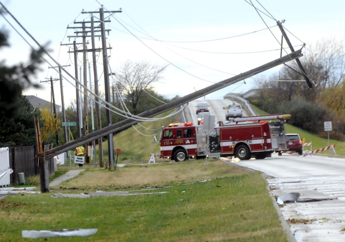 Early morning heavy rain and wind damage northwest Champaign neighborhood