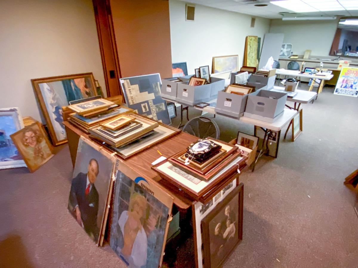News-Gazette downstairs Champaign Historical Society