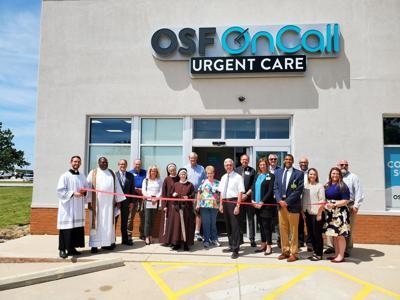 OSF Rantoul urgent care ribbon cutting