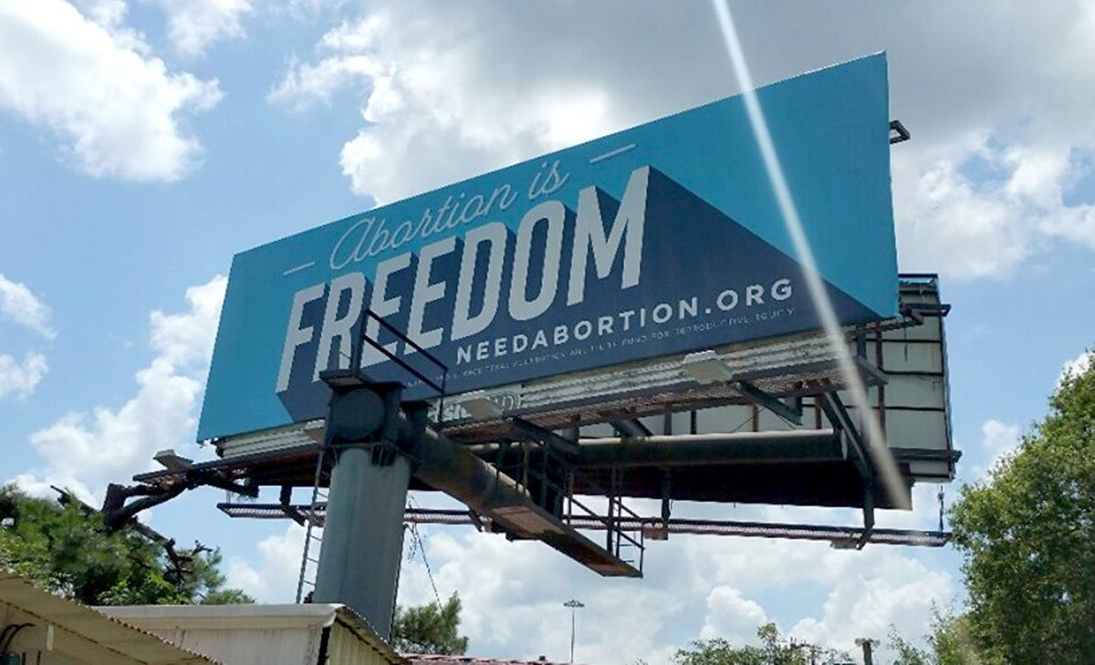 Group erects 'Abortion is Freedom' billboards in response to Waskom's ban