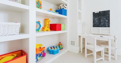 Decluttering is helpful for playtime