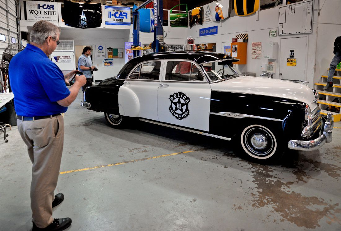 Students Restore Classic Cruiser For Gladewater Police 1951 Chevrolet Car