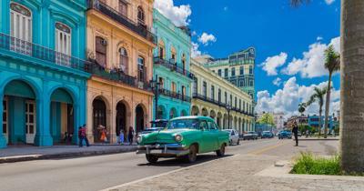 Colorful Buildings on Main Street Havana