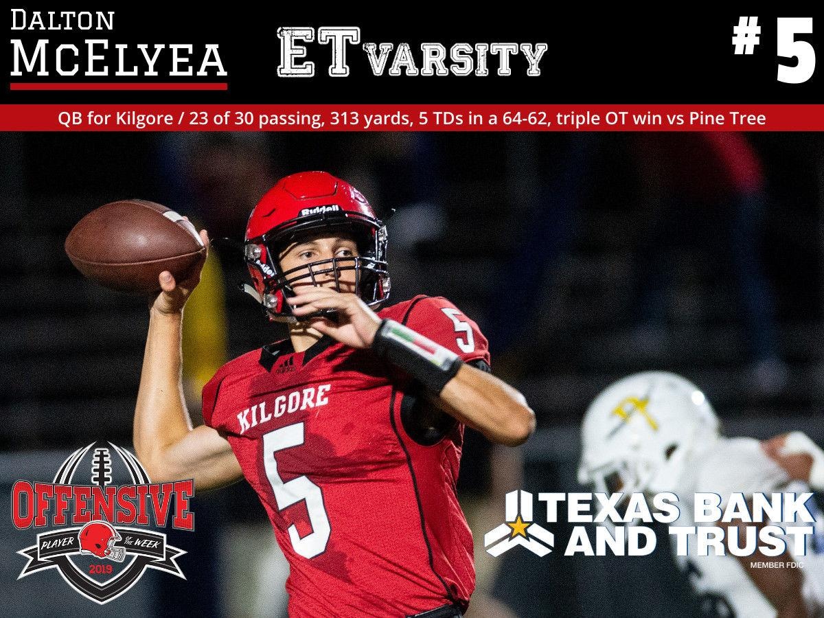 Week 3 2019 Offensive Player of the Week: Dalton McElyea, Kilgore