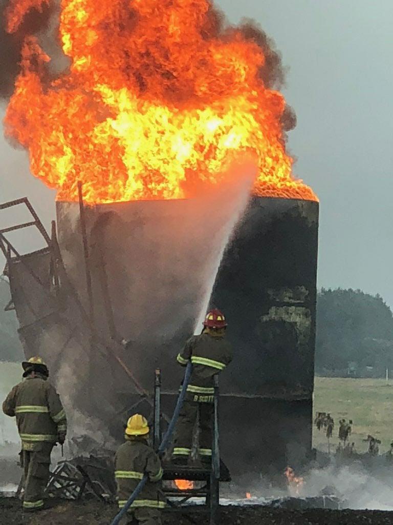 Battery tank fire