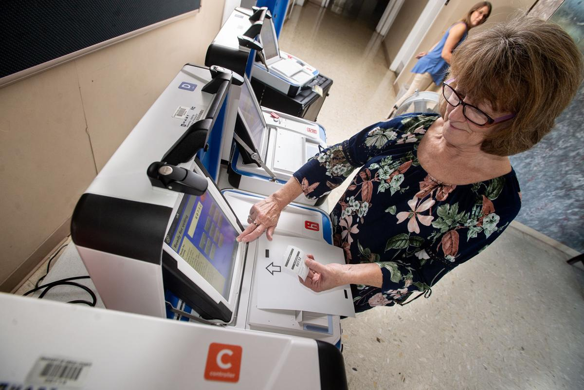 Gregg County voters begin practice sessions on new voting machines