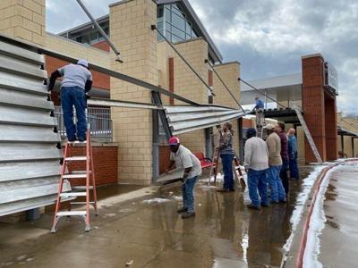 Henderson Middle School damage 1