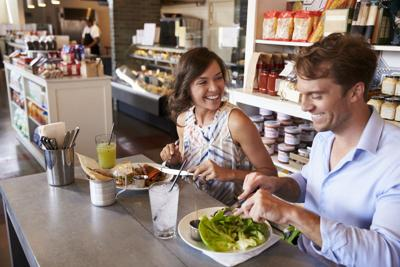 Healthy eating options can be found when dining out